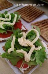 Un panino integrale fragrante