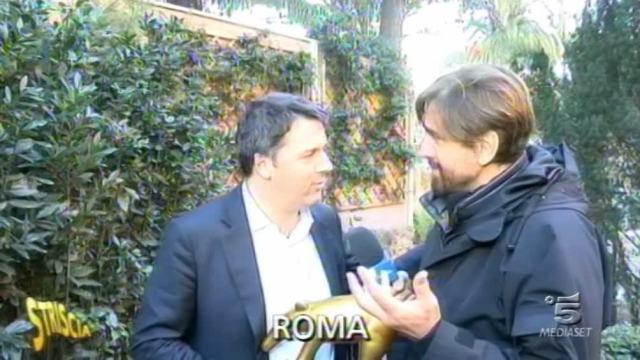 Striscia, Tapiro a Matteo Renzi: