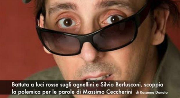 Massimo Ceccherini, battuta a luci rosse su Berlusconi e gli agnellini: diretta tv sospesa