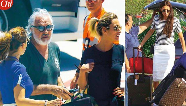 Flavio Briatore con una bionda, Elisabetta Gregoraci fa le valigie