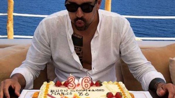 Marco Borriello compie 36 anni, torta e festa a Ibiza