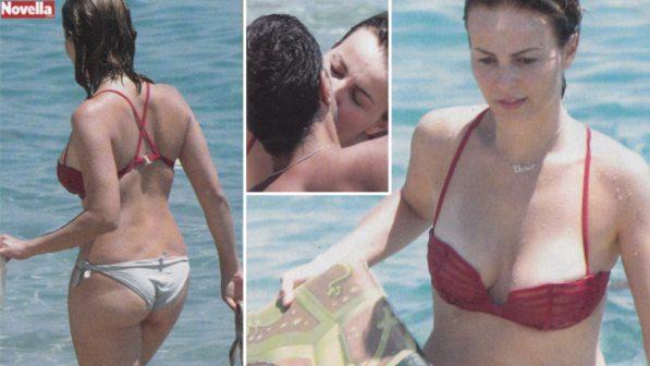 Violante Placido sexy bikini in famiglia: vacanza col compagno e il figlio Vasco