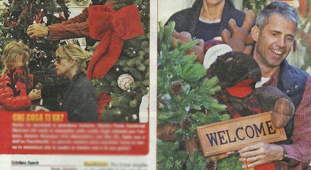 Alessia Marcuzzi, shopping di Natale col marito Paolo Marconi e la figlia Mia