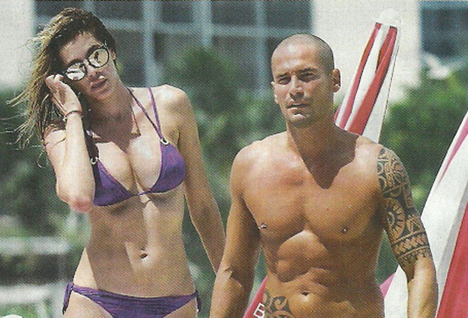 Aida Yespica mette su famiglia con il fidanzato, Enrico Romero: