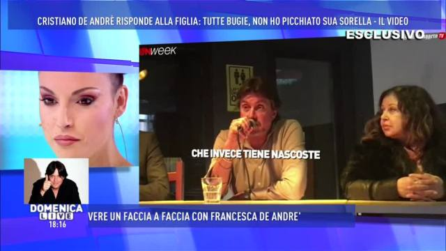 """Domenica Live, Cristiano De Andrè: """"Tutto quello che mia figlia ha detto è falso"""""""