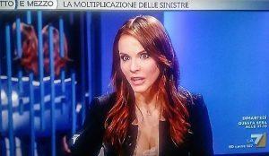 Sara Manfuso, esordio in diretta tv dalla Gruber per la modella nuova Star del Pd