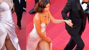 Cannes, Bella Hadid smutandata con papà