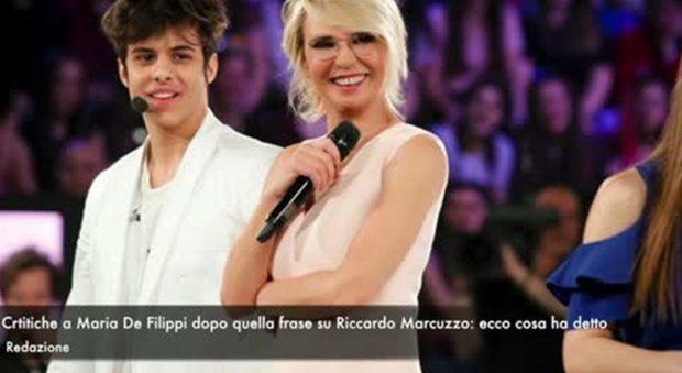 Maria De Filippi, pioggia di critiche dopo la frase su Riccardo Marcuzzo
