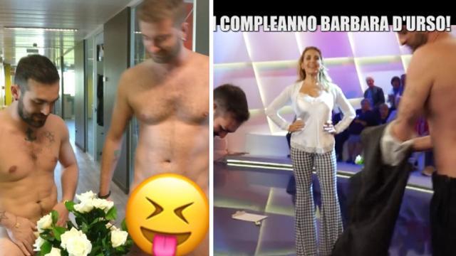 Le Iene nude in studio per festeggiare Barbara D'Urso e Ilary Blasi