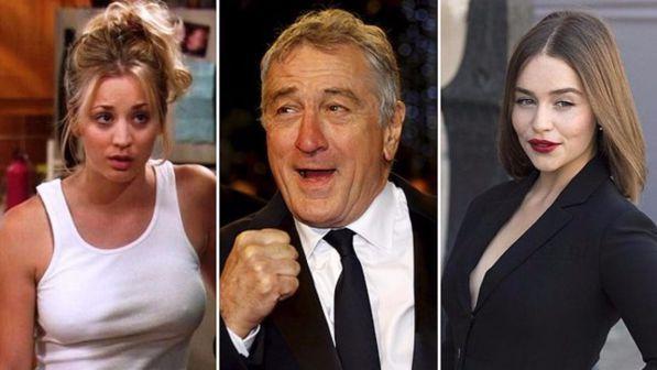 Robert De Niro, Kaley Cuoco e Emilia Clarke: ecco i Paperoni della televisione
