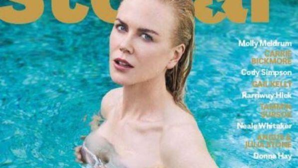 Nicole Kidman, più sexy che mai a 50 anni sulla cover di Stellar