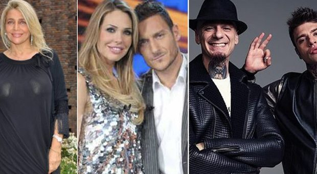 Mara Venier e i baci col concorrente, Francesco Totti a dieta. Fedez, Jax e il mega concerto