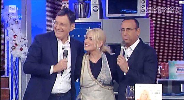 Fabrizio Frizzi torna in tv, sorpresa di compleanno per Antonella Clerici che si commuove
