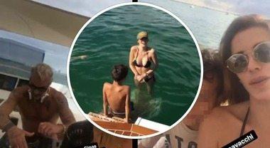 Aida Yespica riabbraccia il figlio e festeggia sexy e scatenata con Gianluca Vacchi