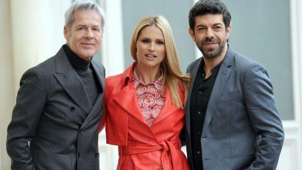 Sanremo 2018, Michelle Hunziker e Pierfrancesco Favino co-conduttori