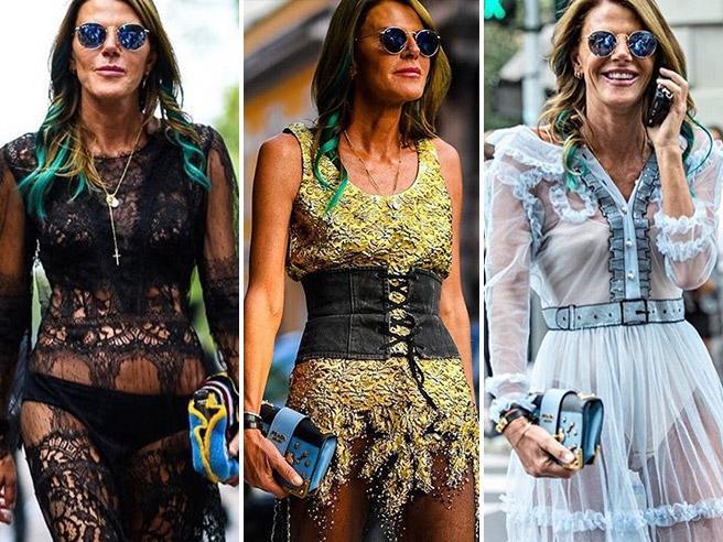 Anna Dello Russo e il record dei cambi d'abito alla Milano fashion week 2016