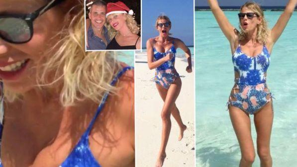 Alessia Marcuzzi, vacanze in costume: alle Maldive col marito Paolo Calabresi
