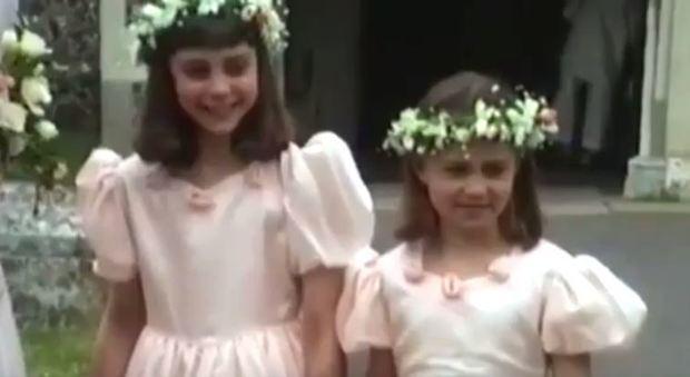 Kate e Pippa Middleton inedite: salta fuori un video del 1991 in versione baby damigelle