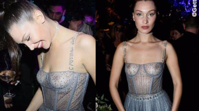Bella Hadid, una fatina tutta nu. da da Dior
