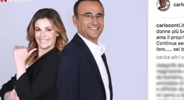 Vanessa Incontrada, il post di Carlo Conti dopo le critiche sul peso