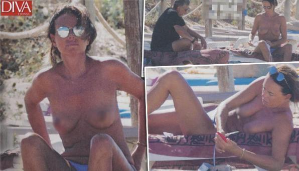 Paola Perego, guarda che topless a Formentera