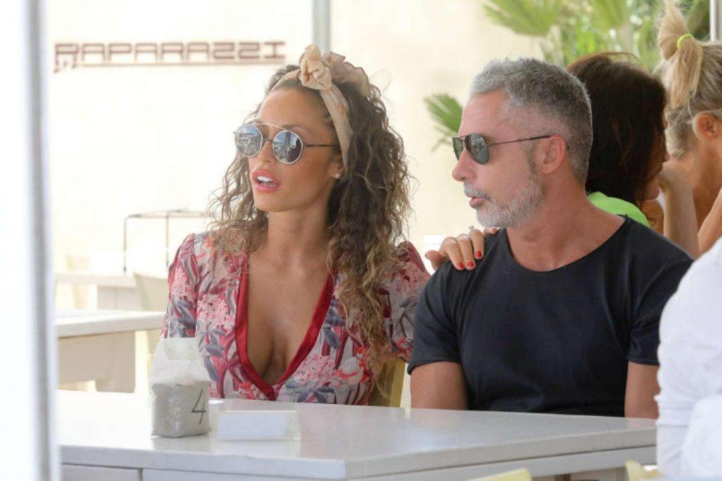Raffaella Fico e Alessandro Moggi, pranzo romantico a Milano Marittima
