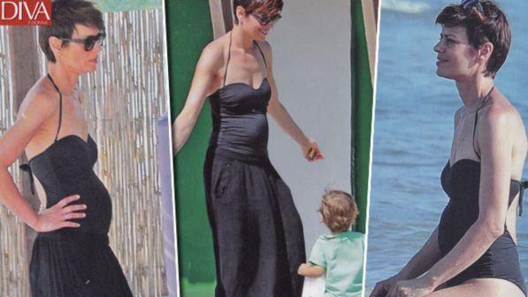 Claudia Pandolfi, dolci curve al mare: terzo figlio in arrivo