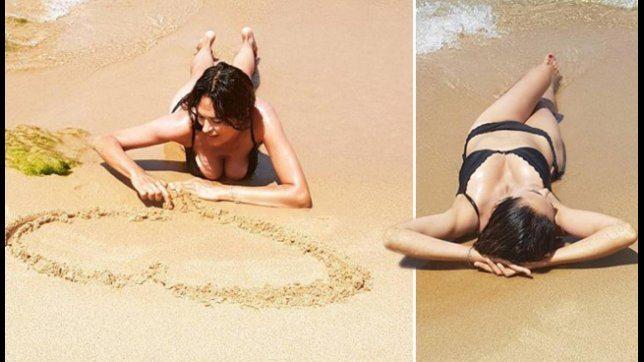 Maria Grazia Cucinotta, una sirenetta in bikini