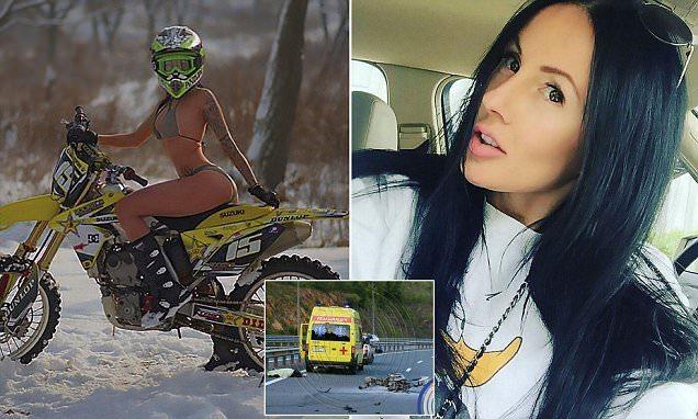 """Modella star del web si schianta a 250 all'ora in moto e muore: """"La sua Bmw si è spezzata in due"""""""