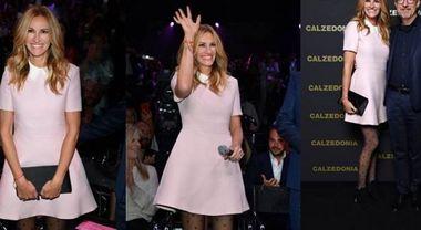 Julia Roberts sfila per Calzedonia. Alla serata dedicata ai collant anche Chiara Ferragni