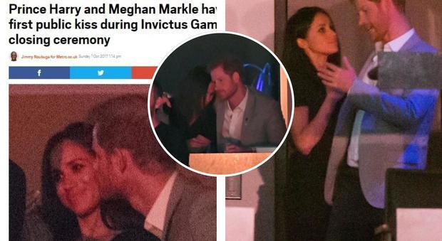Principe Harry e Meghan Markle, ecco (finalmente) il primo bacio in pubblico
