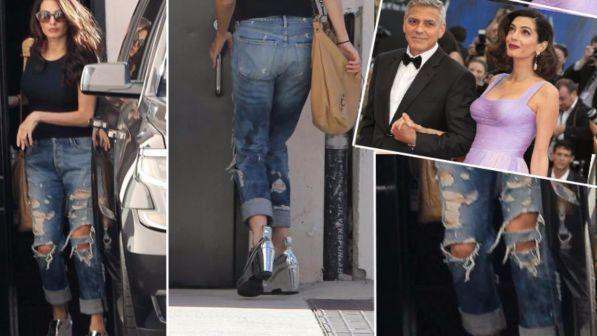 Amal che strappo! Guarda la neomamma dei gemelli Clooney