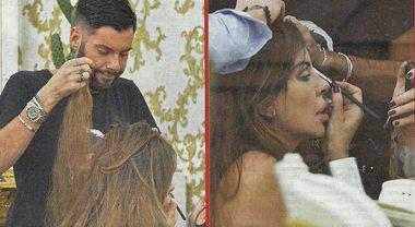 """Alba Parietti e i """"segreti"""" della folta chioma: dal parrucchiere per le extension"""