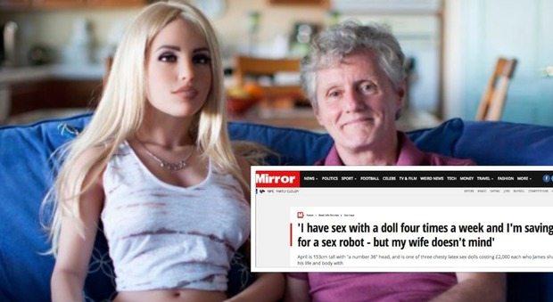 """""""Faccio sesso con una bambola, ma mia moglie non è gelosa"""". La confessione dell'ingegnere 58enne"""