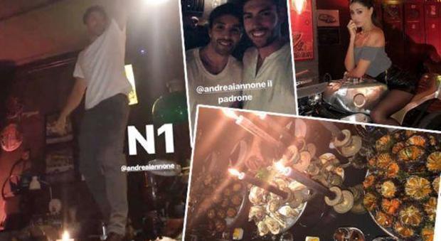 Belen, scatenata notte afrodisiaca con Ignazio Moser e Andrea Iannone: balli sui tavoli e ostriche