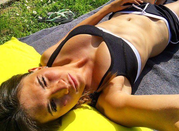Carolina Marcialis, la moglie di Cassano in gran forma: per lei workout sexy