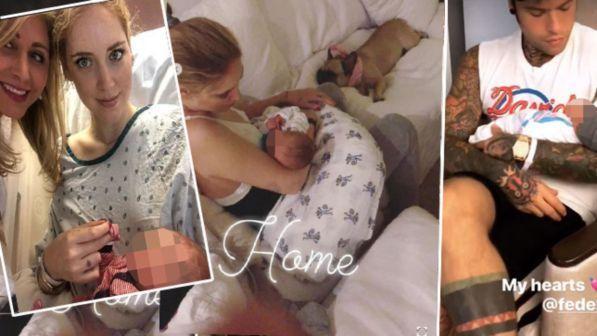 Chiara Ferragni-Fedez, le prime ore di Leone a casa con tutta la family
