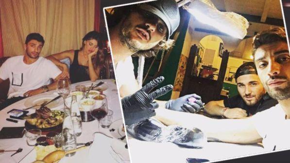 Belen e Iannone, tattoo d?amore e cena in famiglia