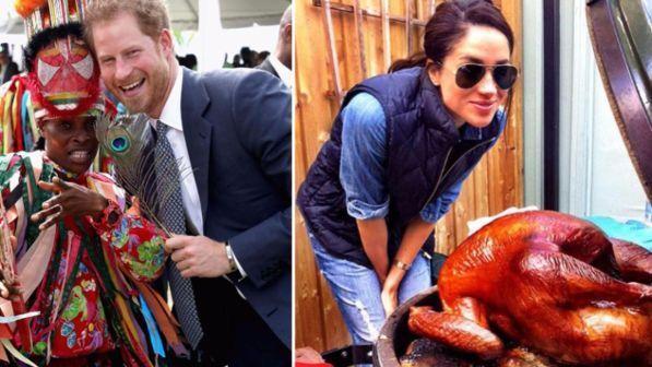 Il principe Harry ai Caraibi, Meghan si consola con il tacchino del Ringraziamento