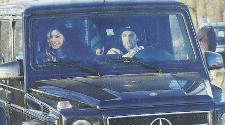 Belen Rodriguez e Andrea Iannone, giornata con Santiago: