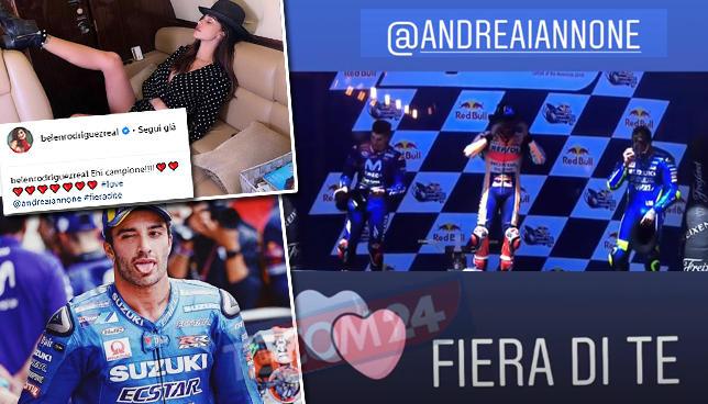 """Belen ad Andrea Iannone: """"Fiera di te"""""""