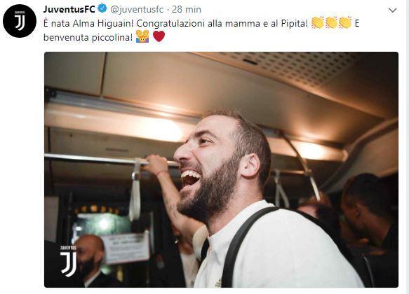 Gonzalo Higuain è diventato papà