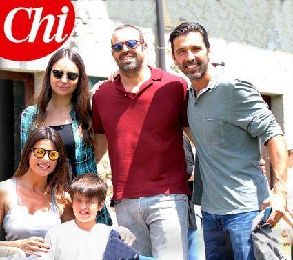 Ilaria D?Amico e Gigi Buffon, prove di famiglia allargata