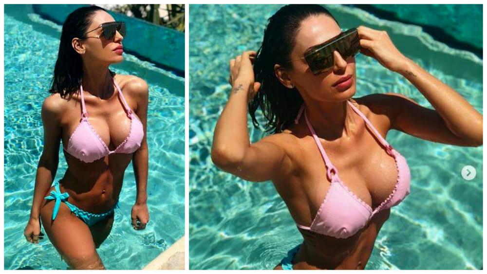 Anna Tatangelo in bikini a Mykonos fa impazzire il web