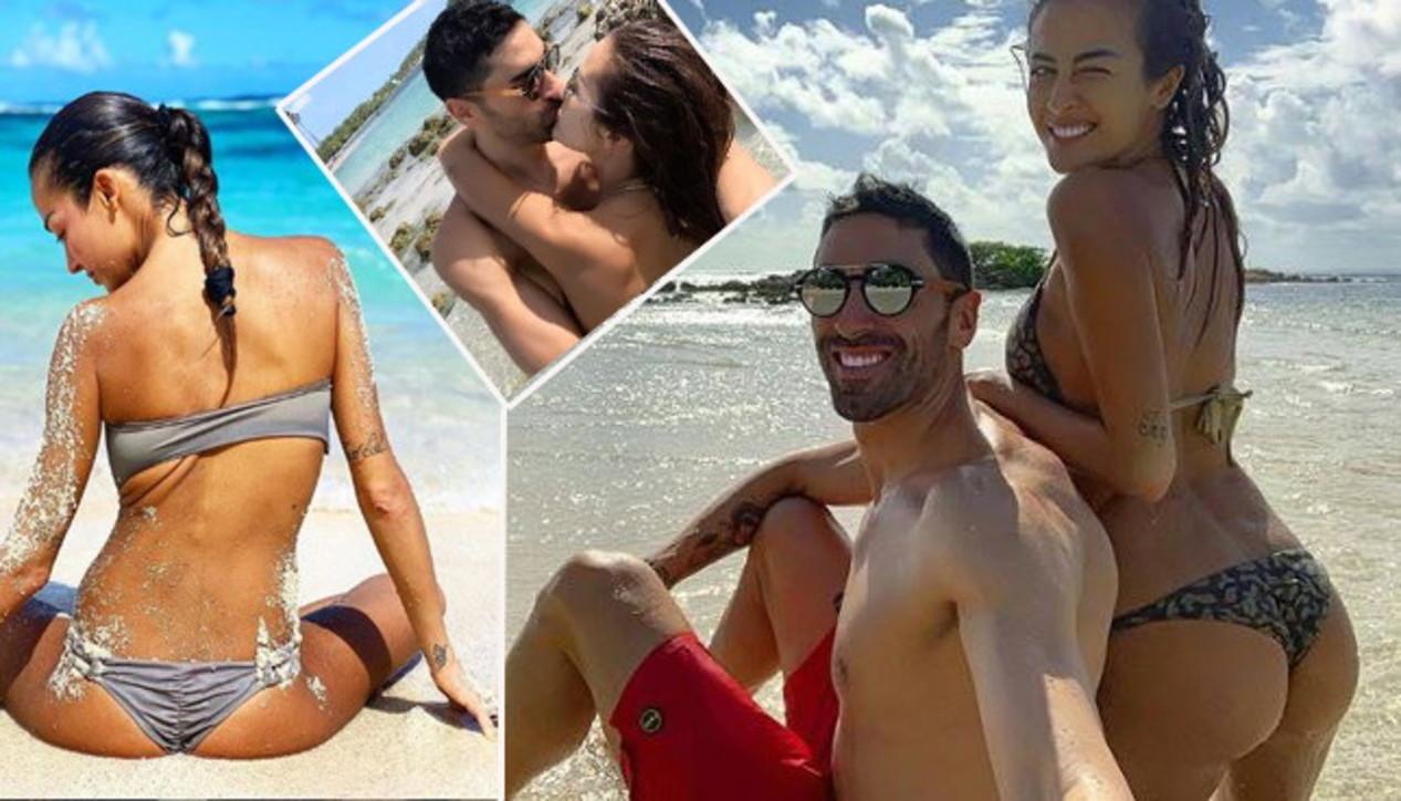 Giorgia Palmas e Filippo Magnini ai Caraibi in un mare di passione