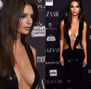 Al Bazaar Icons l'attrice è esplosiva nell'abito tutto paillettes di Julien MacDonald