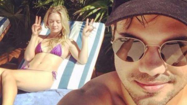 Taylor Lautner porta in vacanza Billie Lourd dopo il lutto