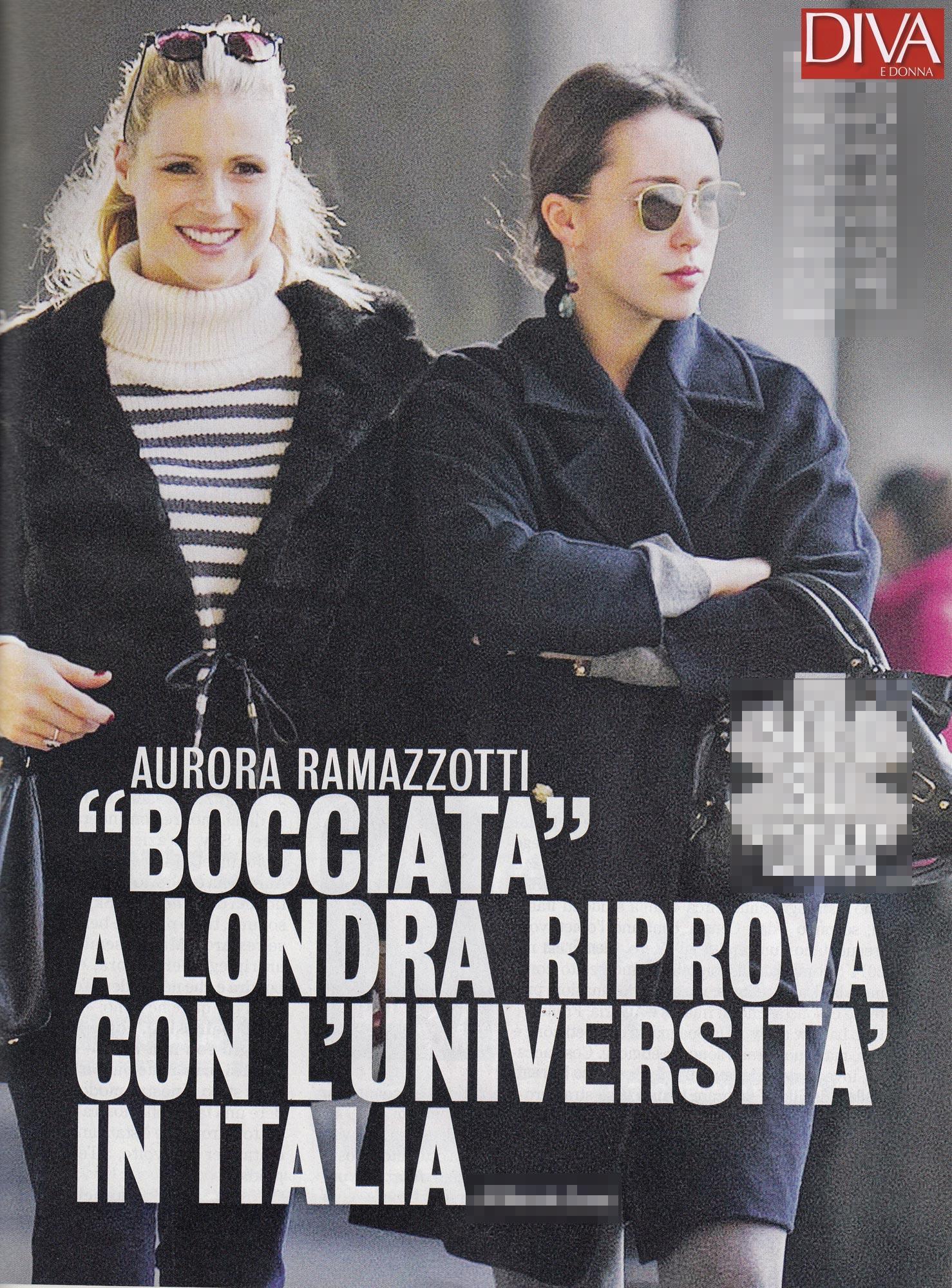 Aurora Ramazzotti, bocciata a Londra, in ateneo con Michelle Hunziker