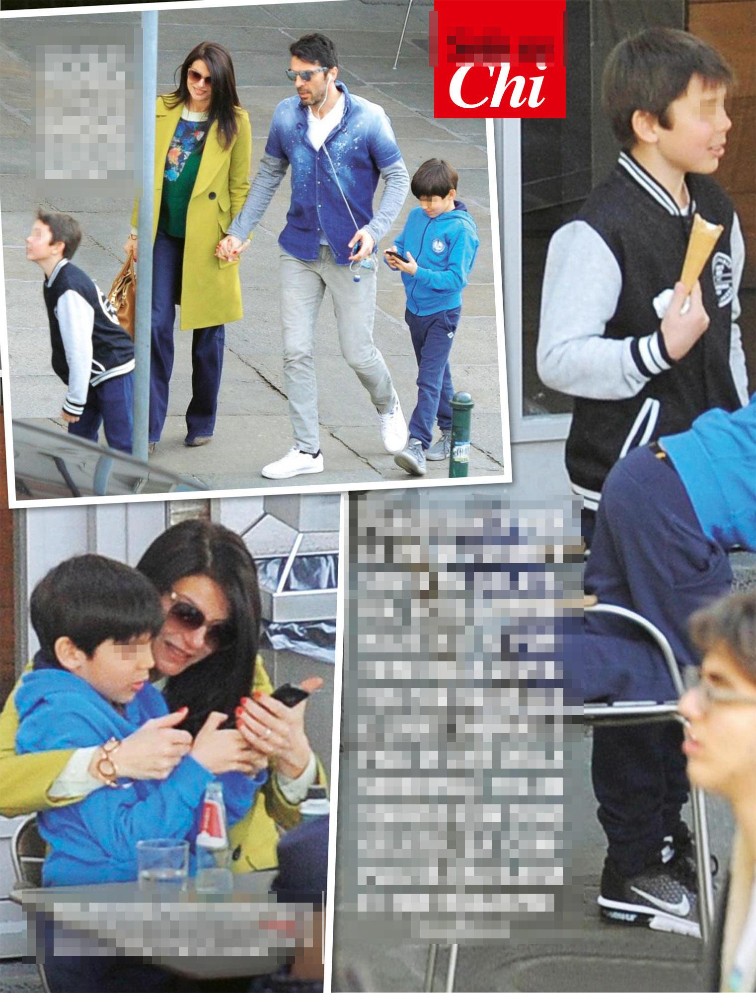 Gigi Buffon e Ilaria D?Amico, prove di famiglia a Torino
