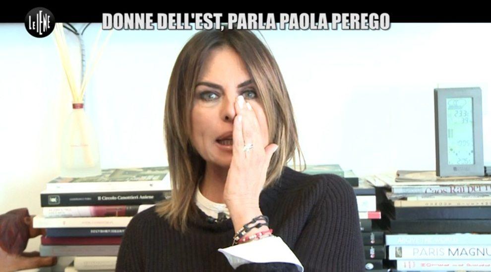 Paola Perego in lacrime a Le Iene: